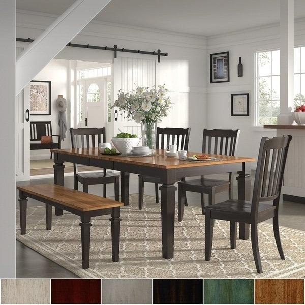 Most Popular Elena Black Extendable Rectangular Dining Set – Slat Backinspire For Caden 6 Piece Rectangle Dining Sets (View 15 of 20)