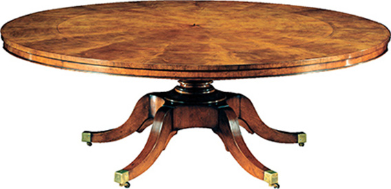 Most Popular Extending Round Dining Tables In Mahogany Extending Round Dining Table (View 11 of 20)