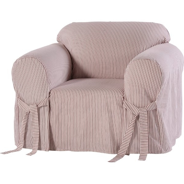 Most Popular Garten Linen Skirted Side Chairs Set Of 2 Pertaining To Chair Slipcovers You'll Love (View 11 of 20)