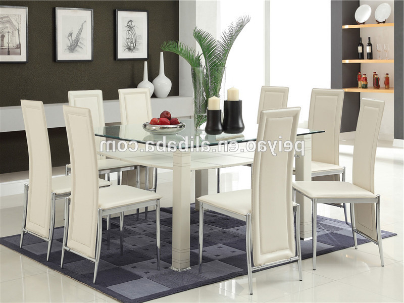 Most Popular Glass Dining Tables Sets Intended For High Quality Glass Dining Table 6 Chairs Set – Buy Purple Dining (View 13 of 20)