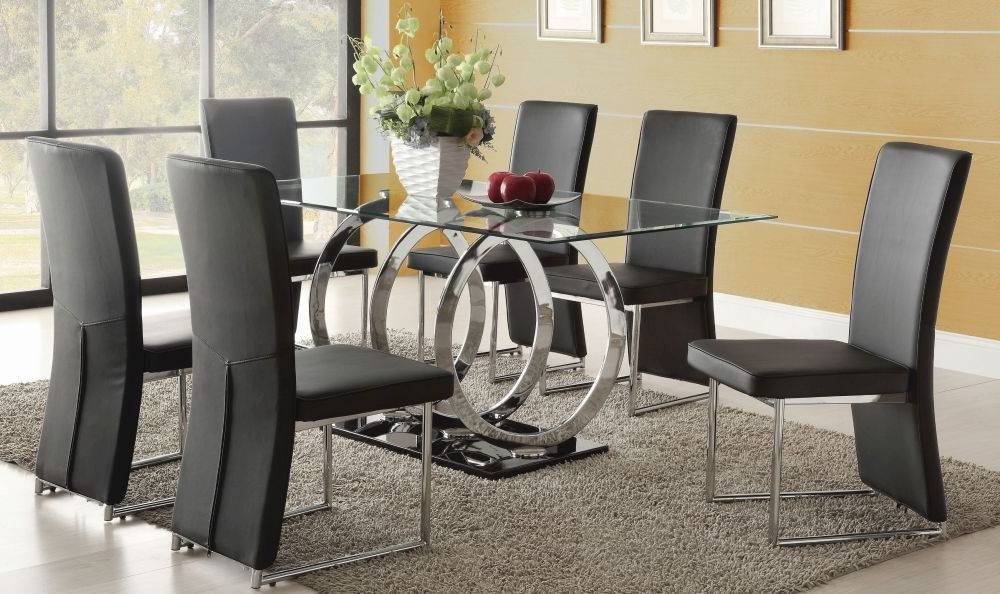 Most Popular Glass Dining Tables Sets Pertaining To 3 Steps To Pick The Ultimate Dining Table And 6 Chairs Set – Blogbeen (View 6 of 20)