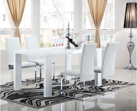 Most Popular Gloss White Dining Tables Pertaining To Opus Extending Dining Table – Keens Furniture (View 13 of 20)