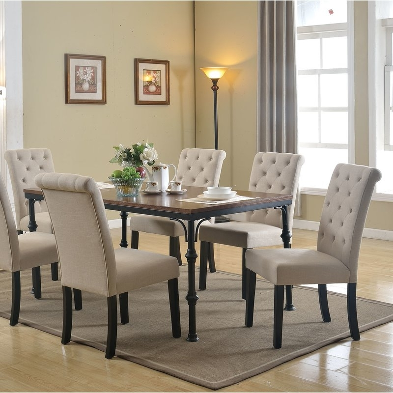 Most Popular Gracie Oaks Tyerell 7 Piece Dining Set (View 13 of 20)