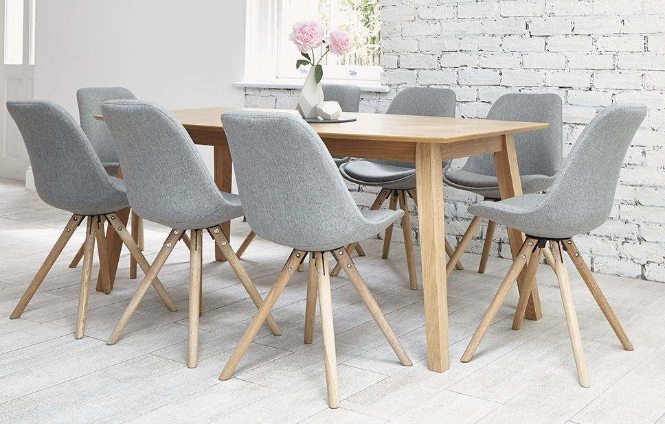 Most Popular Grey 8 Seater Dining Set – Shell Chairs – Home Furniture – Out & Out For 8 Seater Oak Dining Tables (View 14 of 20)