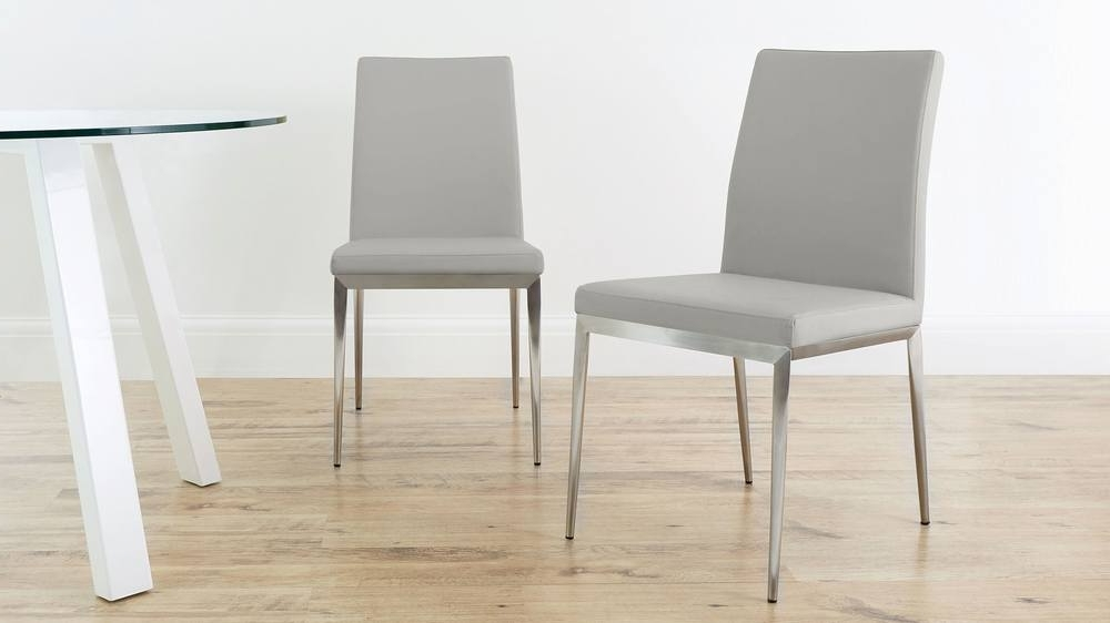 Most Popular Grey Dining Chairs Inside Modern Dining Chair (View 3 of 20)