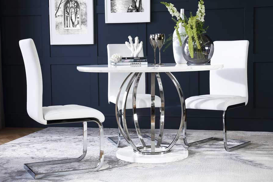 Most Popular High Gloss Dining Table & Chairs – High Gloss Dining Sets Inside Hi Gloss Dining Tables Sets (View 13 of 20)