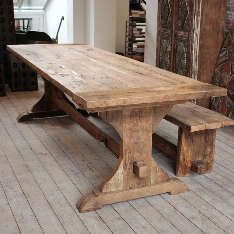 Most Popular How To Make A Kitchen Table Rustic Oak Dining Table Kitchen Table With Regard To Rustic Oak Dining Tables (View 15 of 20)
