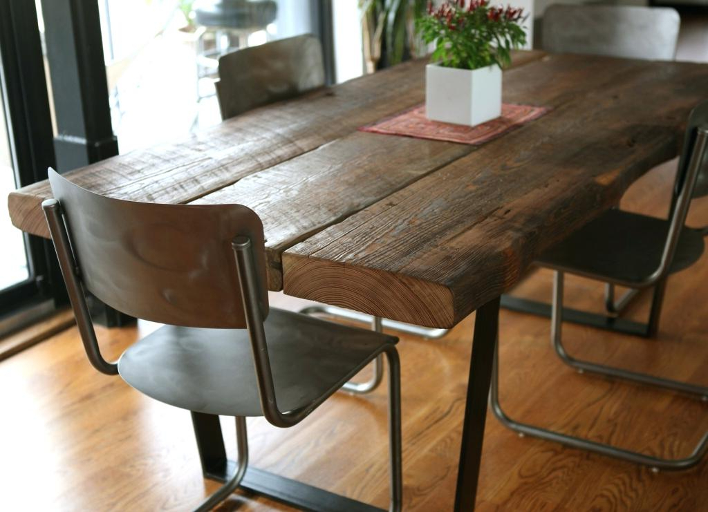 Most Popular Iron And Wood Dining Tables In Wood Iron Table Homemade Modern Wood And Iron Table Postcard (View 14 of 20)