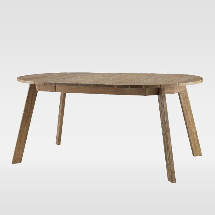 Most Popular Magnolia Home English Country Oval Dining Tables For Dexter Outdoor Expandable Wood Dining Table (View 15 of 20)