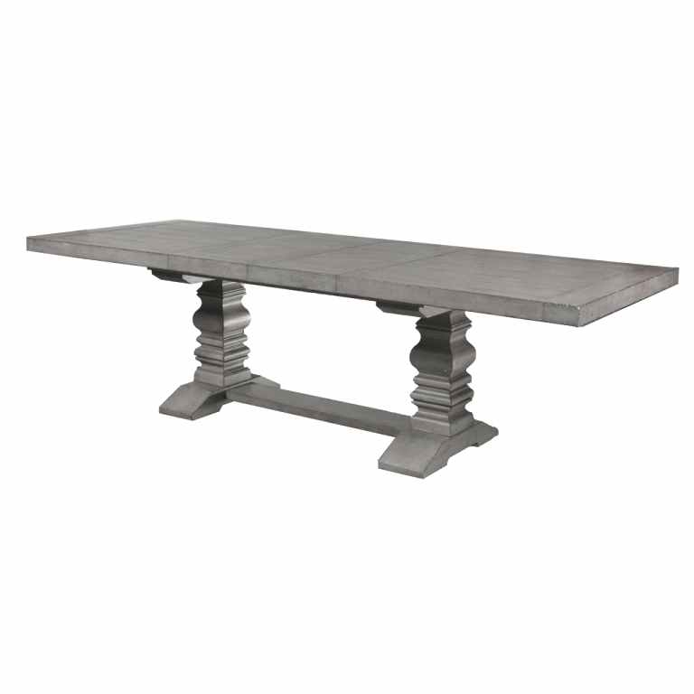 Most Popular Magnolia Home Shop Floor Dining Tables With Iron Trestle Throughout Rustic White Trestle Dining Table Metal Legs – Imacrossfit (View 16 of 20)
