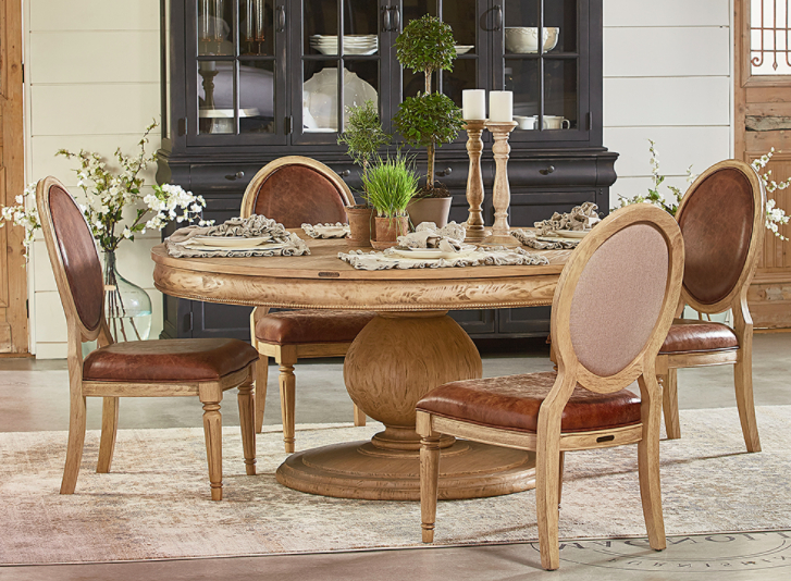 Most Popular Magnolia Home Taper Turned Jo's White Gathering Tables Inside Magnolia Home Dining – Sigman Mills Furniture (View 3 of 20)