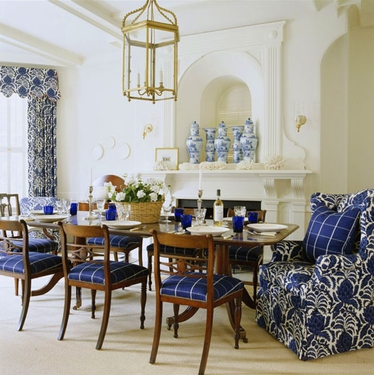 Most Popular Nautical Blue Side Chairs Within Beautiful Rooms In Blue And White (View 9 of 20)