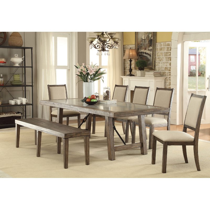 Most Popular Norwood 6 Piece Rectangular Extension Dining Sets With Upholstered Side Chairs With Regard To Canora Grey Shelby 6 Piece Dining Set (View 11 of 20)
