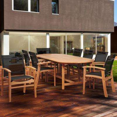 Most Popular Outdoor Brasilia Teak High Dining Tables Inside Standard Dining Height – Sling Patio Furniture – Teak – Patio Dining (View 14 of 20)