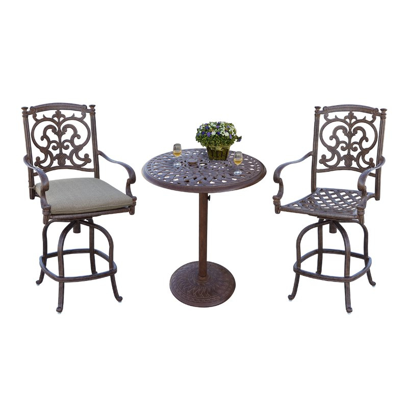 Most Popular Palazzo 3 Piece Dining Table Sets For Astoria Grand Palazzo Sasso 3 Piece Counter Height Bar Dining Set (View 9 of 20)