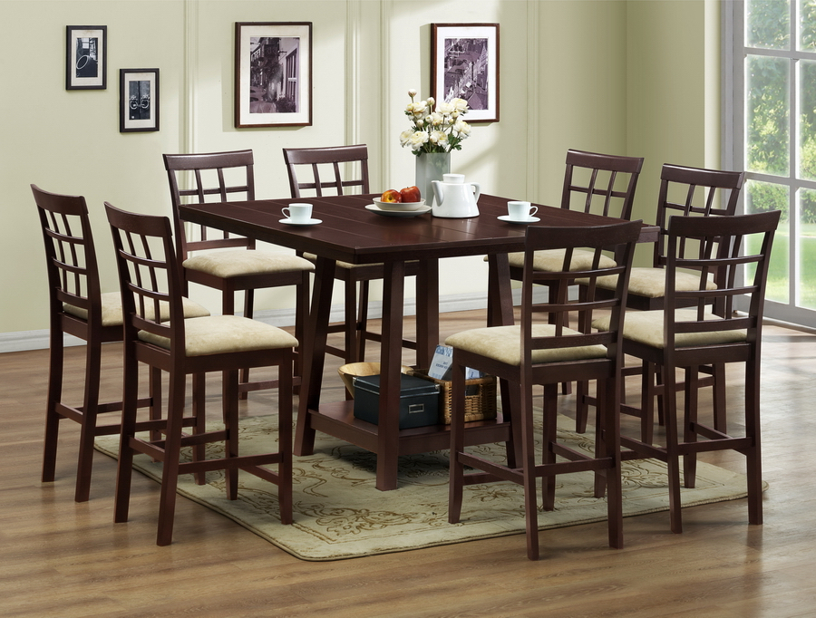 Most Popular Pub Dining Table And Its Benefits – Home Decor Ideas Intended For Leon 7 Piece Dining Sets (View 19 of 20)