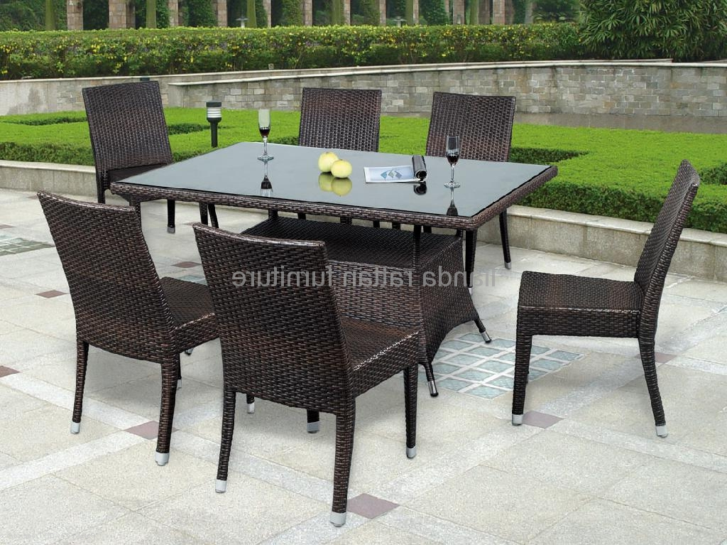 Most Popular Rattan Dining Tables Intended For Stackable Rattan Dining Table Chair Dining Furniture Ld1131 – Ld (View 9 of 20)