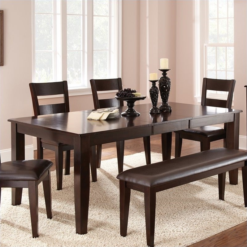 Most Popular Rectangular Dining Tables Sets Within Steve Silver Company Victoria Rectangular Dining Table With (View 10 of 20)