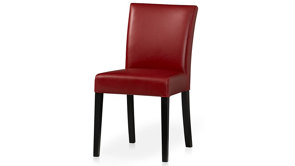 Most Popular Red Leather Dining Chairs Inside Lowe Red Leather Dining Chair (View 10 of 20)