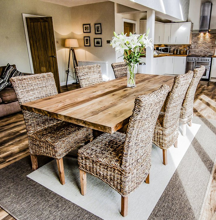 Most Popular Sakra Solid Wood Rustic Dining Table (View 9 of 20)