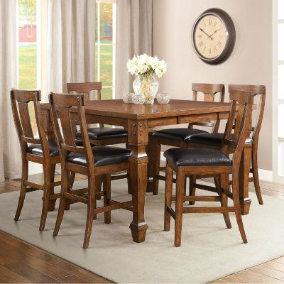 Most Popular Sam's Club – Parker Counter Height Dining Set (7 Pc (View 16 of 20)