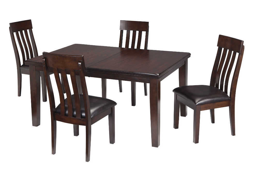 Most Popular Select Imports Furniture And Decor Haddigan Dark Brown Rectangle With Regard To Craftsman 5 Piece Round Dining Sets With Uph Side Chairs (View 14 of 20)