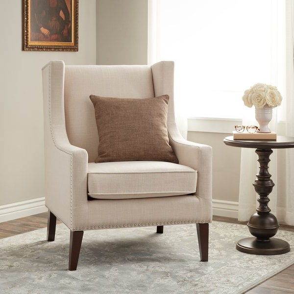 Most Popular Shop Stones & Stripes Whitmore Lindy Wingback Chair – Free Shipping Pertaining To Lindy Espresso Rectangle Dining Tables (View 13 of 20)