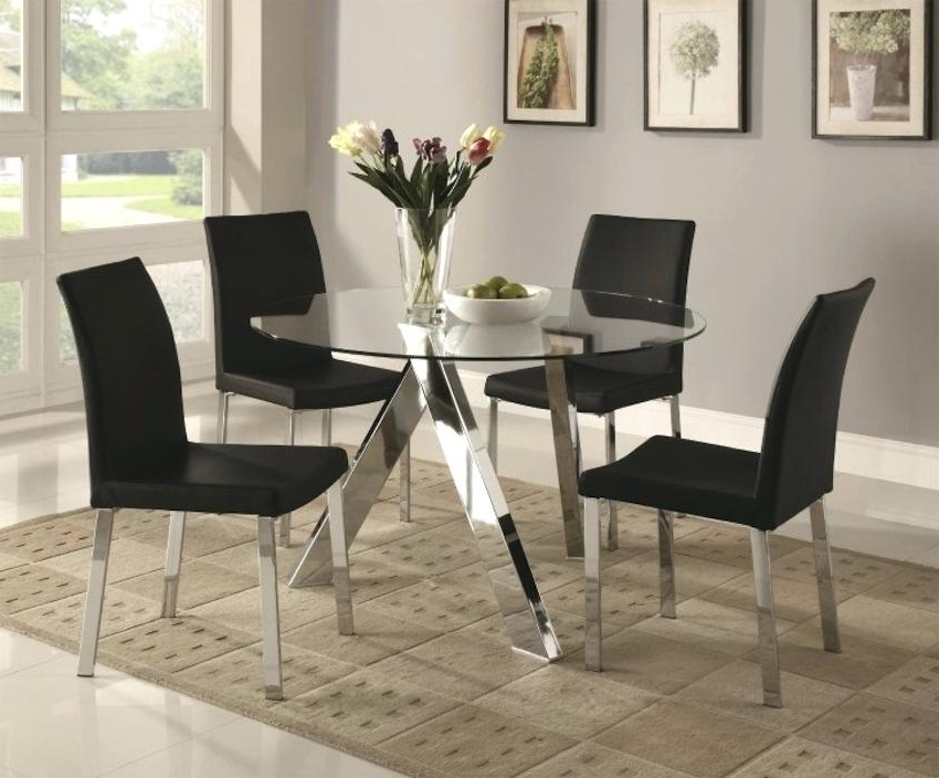 Most Popular Sleek Dining Tables With Modern Glass Dining Room Sets Sleek Round Glass Dining Tables That (View 13 of 20)