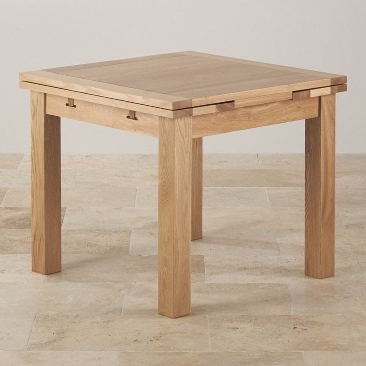 Most Popular Square Extendable Dining Tables And Chairs Regarding Reduced! Oak Furniture Land 3ft Square Extendable Dining Table (View 7 of 20)