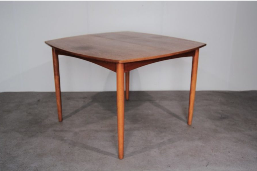 Most Popular Square Extendable Dining Tables Regarding Danish Teak Square Extendable Dining Table, 1960S (View 8 of 20)