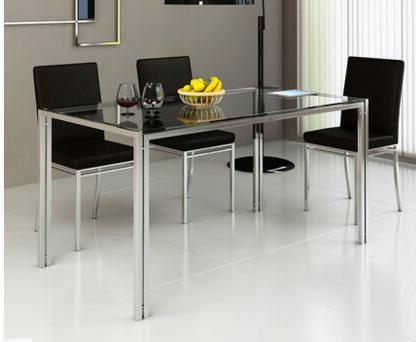 Most Popular Steel Glass Dining Table And Chair Combination (View 15 of 20)