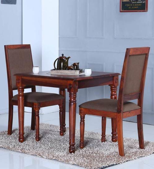 Most Popular Two Seater Dining Tables Throughout Buy Louis Two Seater Dining Set In Honey Oak Finishamberville (View 20 of 20)