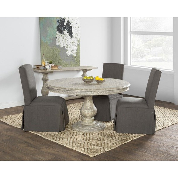 Most Popular Valencia 5 Piece 60 Inch Round Dining Sets With Shop Wakefield Reclaimed Wood Grey Round Dining Tablekosas Home (View 8 of 20)