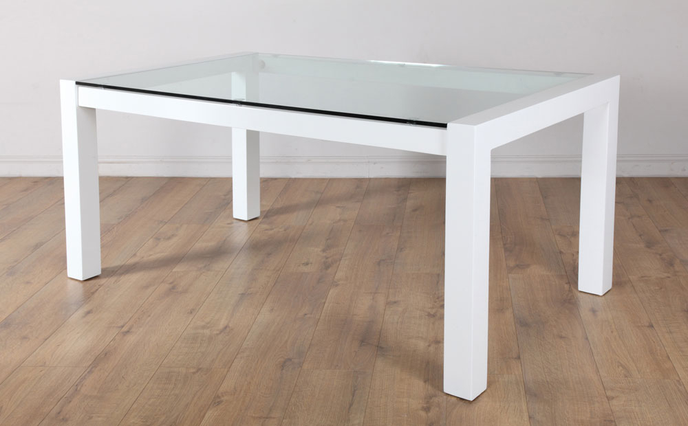 Most Popular White Gloss And Glass Dining Tables With Regard To Venice White High Gloss And Glass Dining Room Table – 160X90 (Gallery 5 of 20)