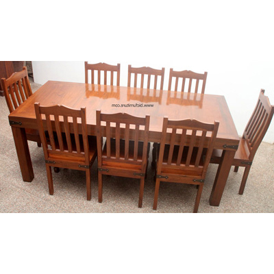 Most Recent 8 Seater Wooden Dining Set In Solid Teak (View 15 of 20)