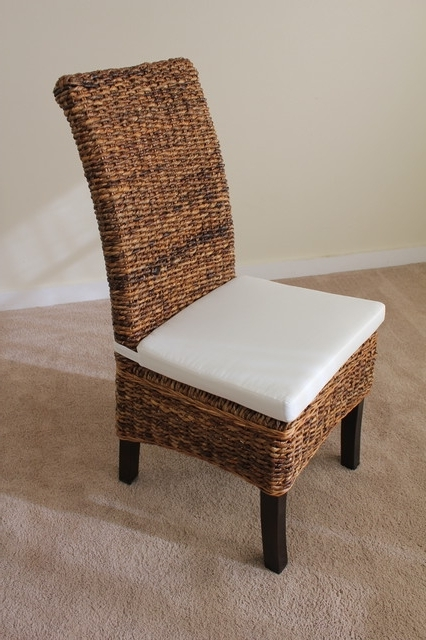 Most Recent Banana Leaf Chairs With Cushion Pertaining To Banana Leaf Chair With Cushion – Contemporary – Dining Chairs (View 2 of 20)