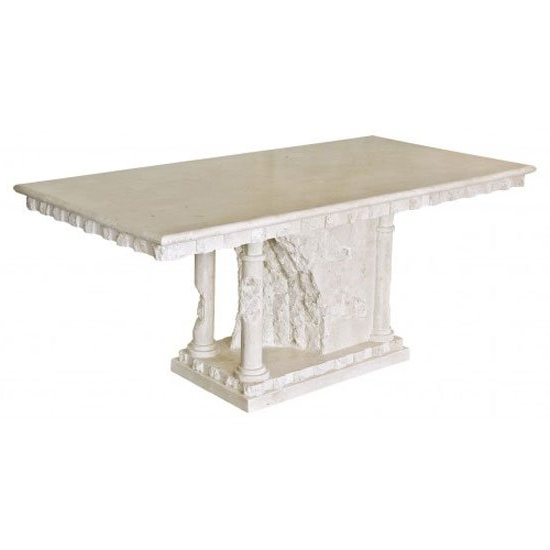 Most Recent Bellagio Macatan Stone Roman Style Dining Table 19441 Within Bellagio Dining Tables (View 16 of 20)