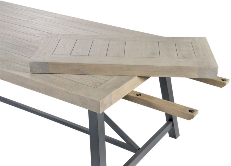 Most Recent Buy Liddle Industrial Reclaimed Wood Extending Dining Table Online With Regard To Cheap Extendable Dining Tables (View 12 of 20)