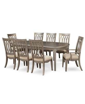 Most Recent Caira Black 5 Piece Round Dining Sets With Diamond Back Side Chairs Inside Kelly Ripa Home Hayley 9 Pc (View 13 of 20)