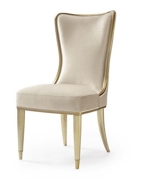 Most Recent Carlile High Back Cream Velvet Dining Chair Pertaining To High Back Dining Chairs (Gallery 16 of 20)
