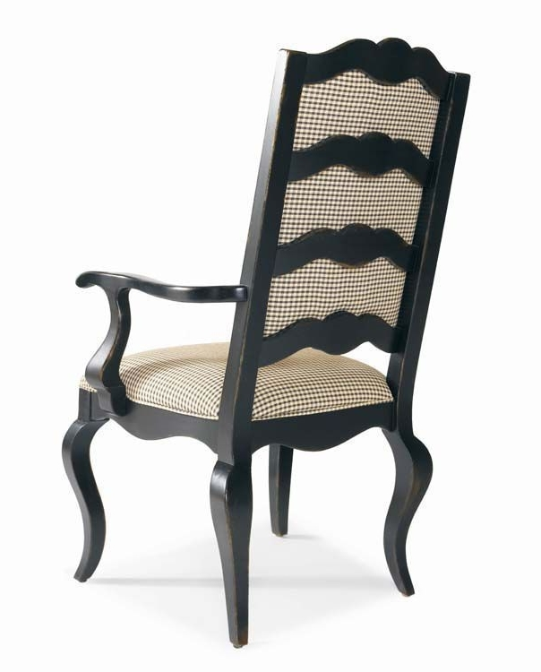 Most Recent Century Furniture Dining Room Upholstered Ladderback Arm Chair Throughout Walden Upholstered Arm Chairs (View 8 of 20)