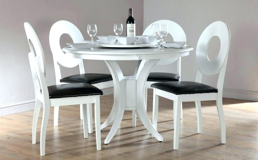 Most Recent Circular Dining Tables For 4 Regarding Circle Dining Table Room White Round Set For 4 Tables Size – Rlci (View 16 of 20)