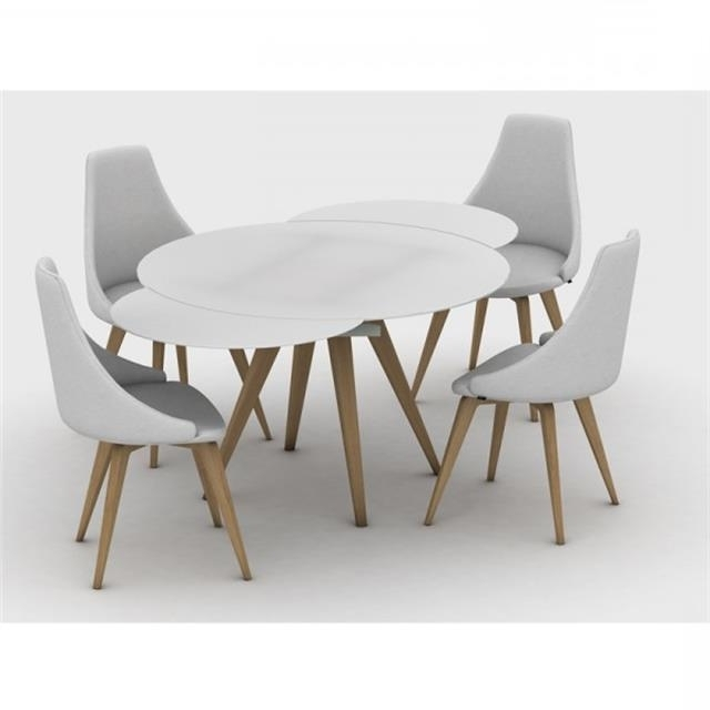 Most Recent Contemporary Extending Dining Tables Regarding Myles Circular Extending Dining Table (View 12 of 20)