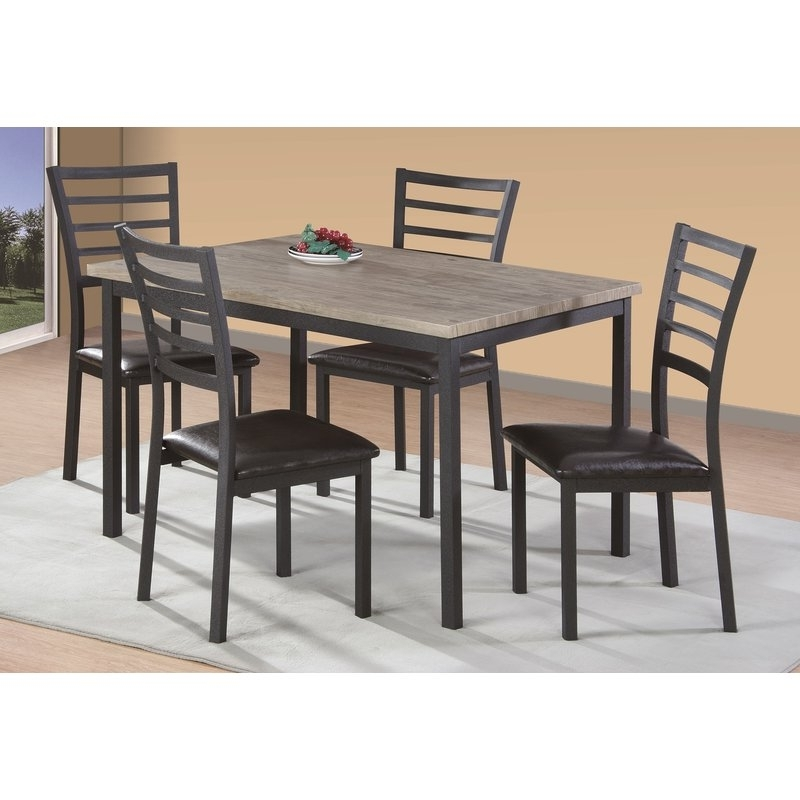 Most Recent Cora 5 Piece Dining Sets Pertaining To Zipcode Design Frankie 5 Piece Dining Set & Reviews (View 16 of 20)