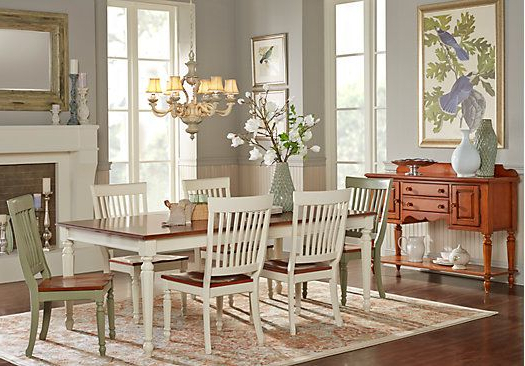 Most Recent Crawford 7 Piece Rectangle Dining Sets Inside Cindy Crawford Home Ocean Grove White 5 Pc Rectangle Dining Room (View 17 of 20)