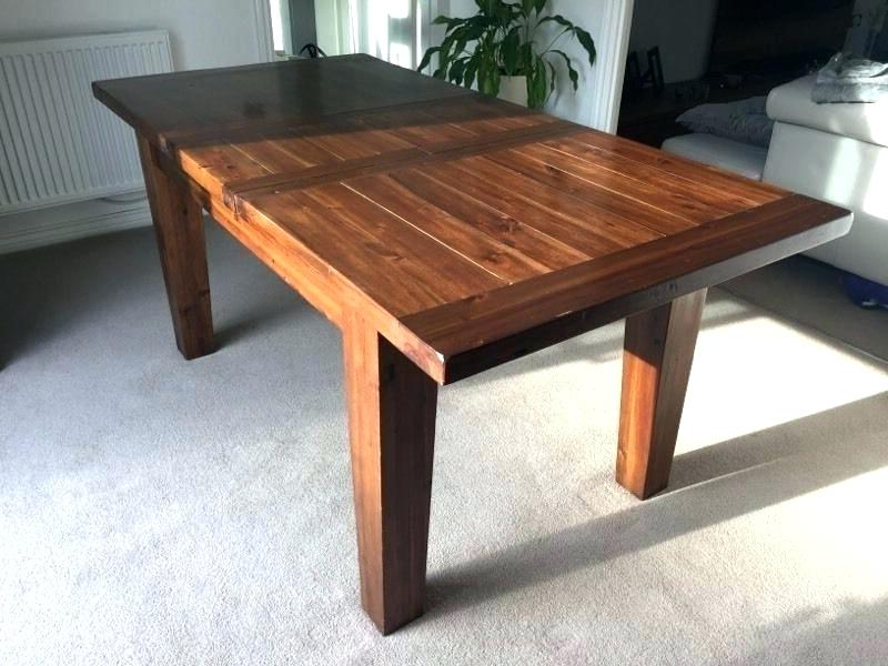 Most Recent Dark Wood Extending Dining Tables Inside Dining Table Extendable Wood Extendable Wooden Dining Table Uk (View 14 of 20)