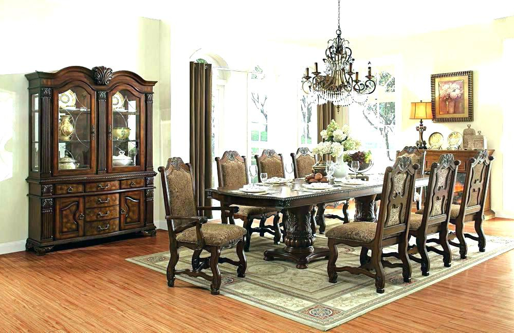 Most Recent Dining Table And 8 Chair Sets Round For Chairs Set Room Rattan Intended For Dining Tables And 8 Chairs Sets (Gallery 17 of 20)