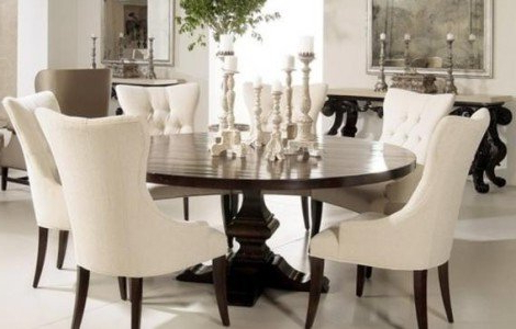 Most Recent Dining Tables For Eight Pertaining To Round Dining Table For 8 People – Foter (Gallery 1 of 20)