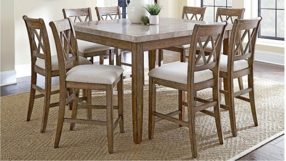Most Recent Dunedin 9 Piece High Dining Suite – Dining Furniture – Dining Room Throughout Palazzo 6 Piece Rectangle Dining Sets With Joss Side Chairs (View 4 of 20)