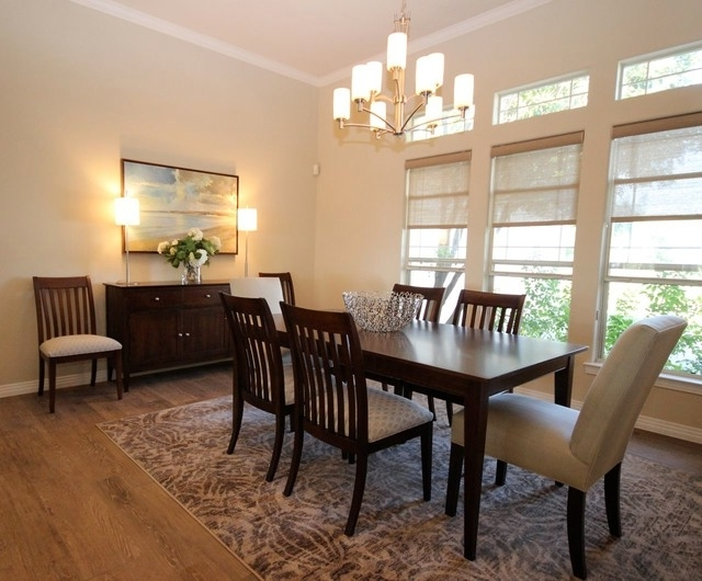 Most Recent Elegant Casual Contemporary Home – Transitional – Dining Room Regarding Teagan Side Chairs (View 5 of 20)